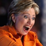hillary clinton scary face