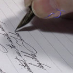 Curtain closing on cursive writing